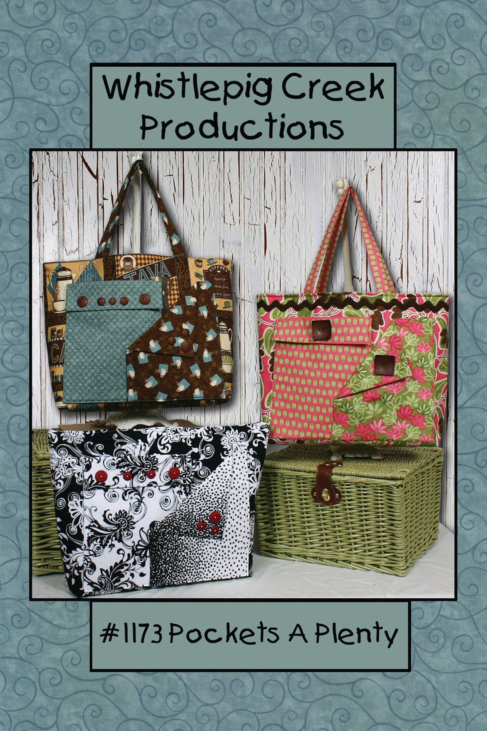 Pdf Pockets A Plenty Tote Bag Sewing Pattern Bag Patterns To