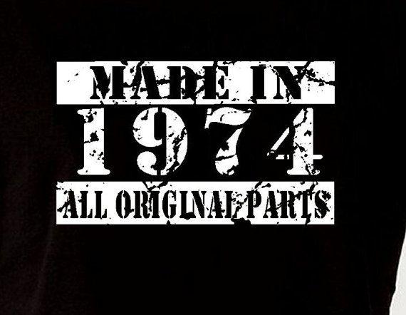 Made in 1974 vintage 40th birthday gift present by designdepot123 diy for me - Geburtstagsideen zum 90 ...