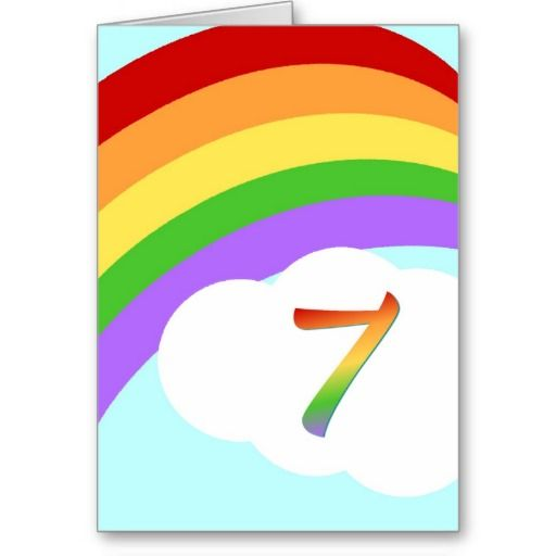 Rainbow Birthday Card For 7 Year Old Cards Pinterest Rainbow