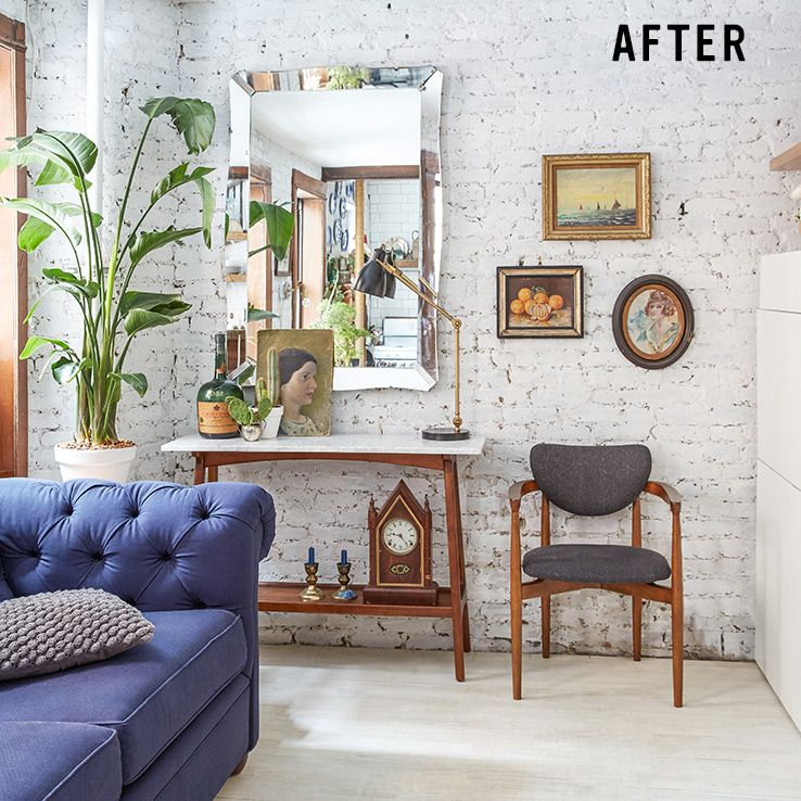 West Elm Living Room Ideas: Tiny Living Room Transformation In NYC
