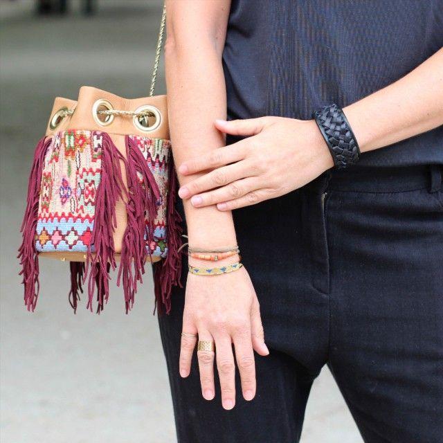 Delphine Delafon bag, Pascale Monvoisin & Richard Delatour & Alexandra Margnat bracelets, Stephanie Jewels & Alexandra Margnat rings