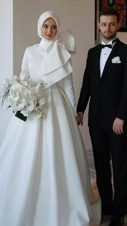 Simple Islamic Ball Gown Wedding Dress In 2020 Ball Gown Wedding Dress Wedding Dress Outfit Dresses