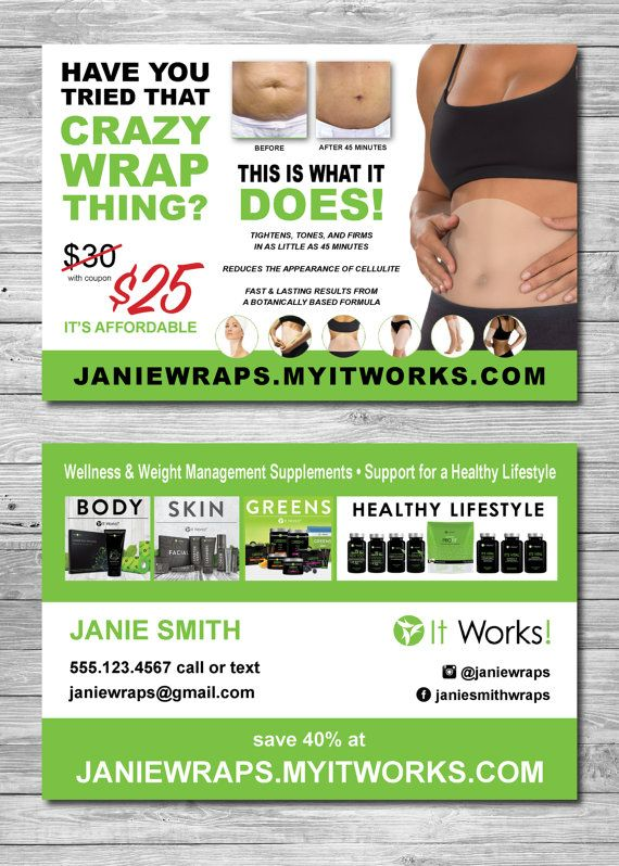 Whether youre new to it works or a seasoned veteran for It works global business cards