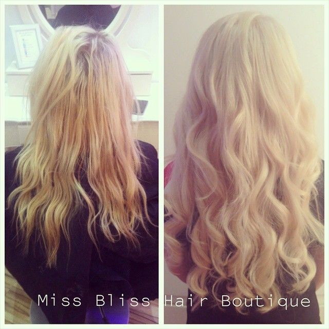 Before And After Colour And Hair Extensions By Tiahn At Miss Bliss