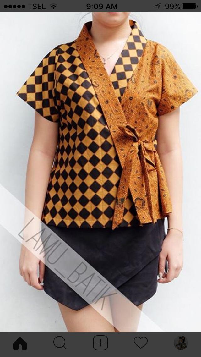 Like Kimono Luv Batik Indonesia Model Baju Wanita Kasual Dan Gaun