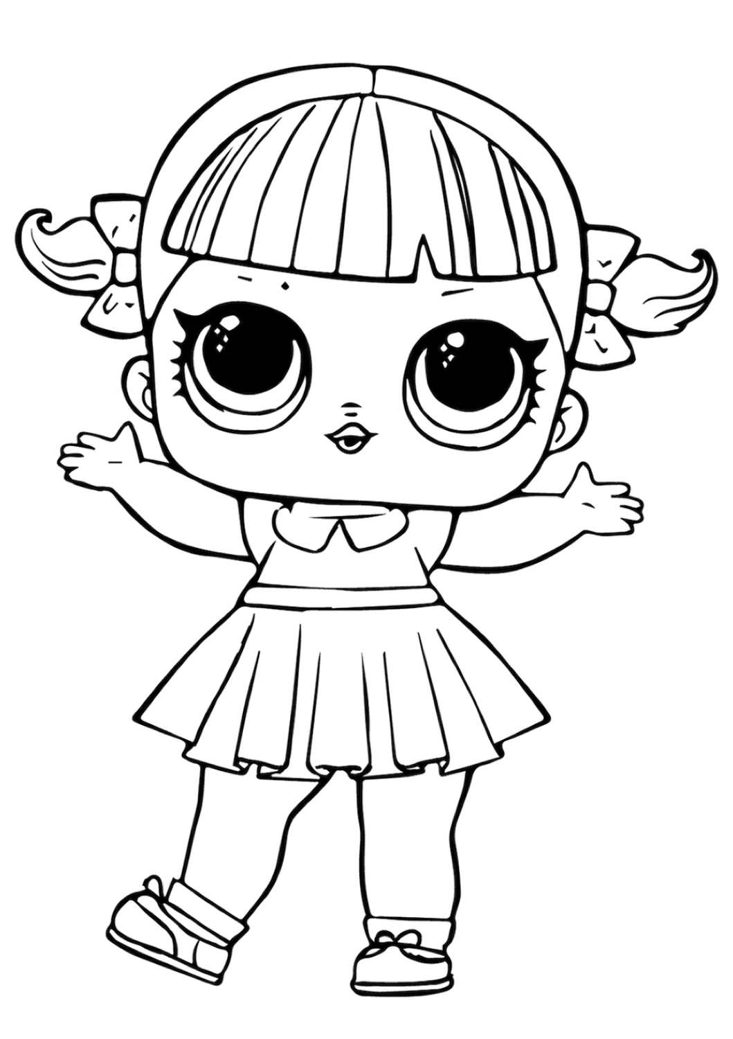 Cheer Captain in 2020 | Lol dolls, Coloring pages, Doll ...