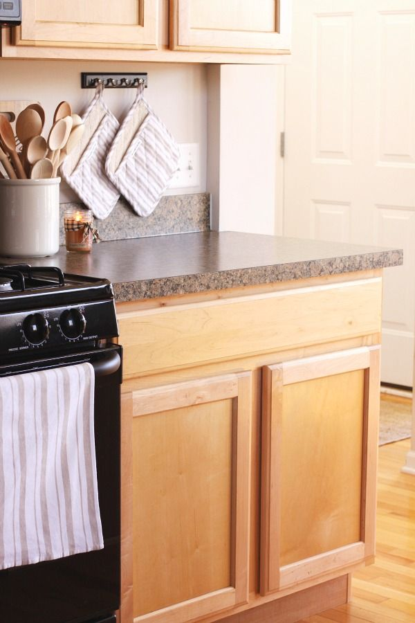 Install Hooks Over Counter Beside Stove For Hanging Pot Holders