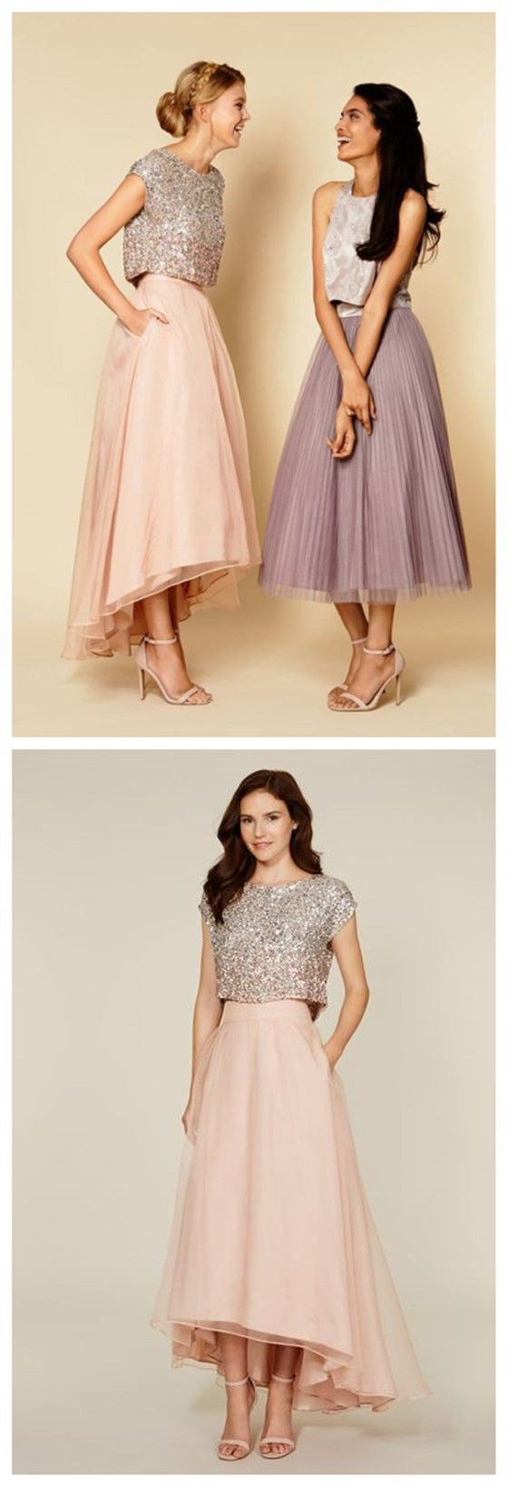 Tea length party vintage prom dresses for girls popular bridesmaid