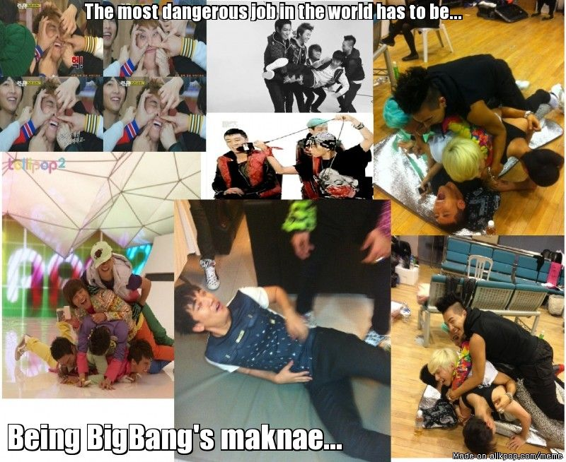 Maknaes are always bullied... but the panda probably deserves it. :P