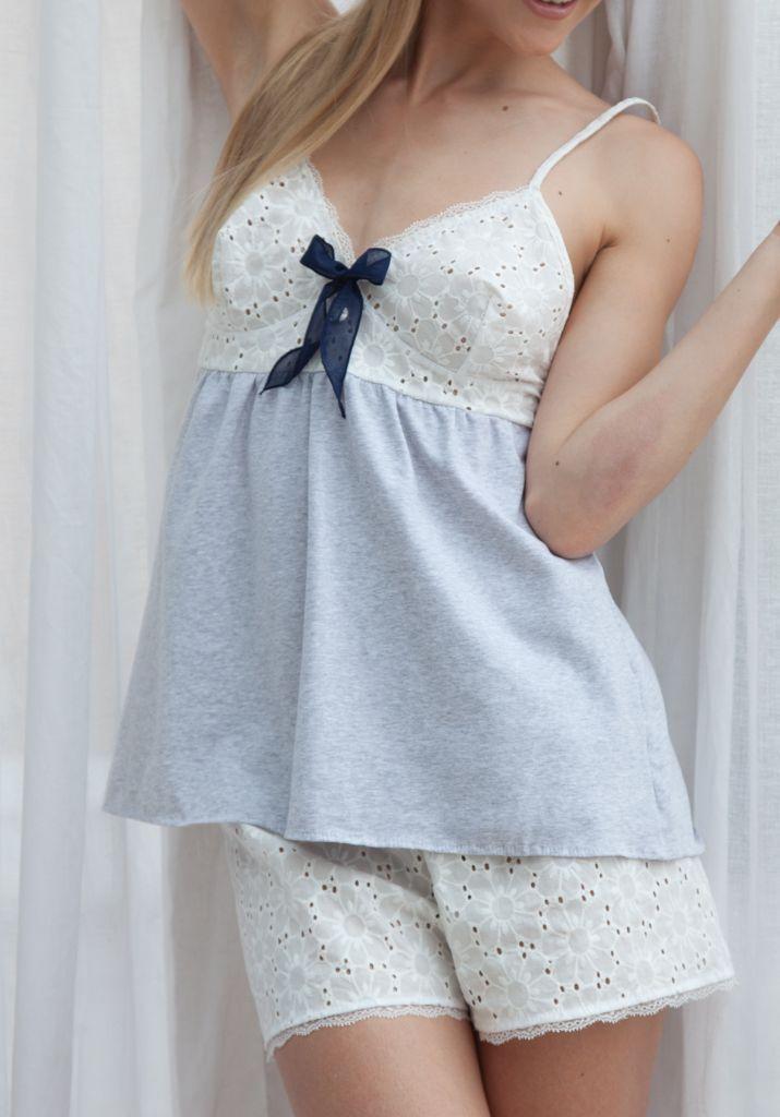3163351a7137322 пижама женская майка и шорты   pj   Ночная рубашка, Одежда для сна ...