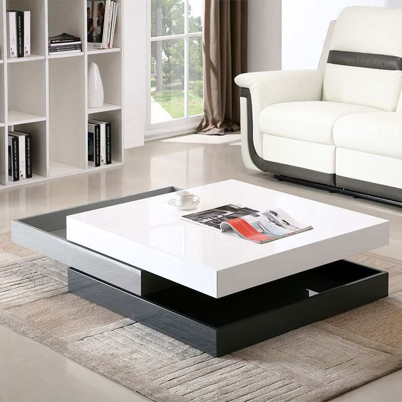 J And M Furniture 17772 Modern Rotary Coffee Table White Grey Dark Grey Lacquer In 2021 Glass Table Living Room Living Table Contemporary Coffee Table Modern coffee table by j and m furniture