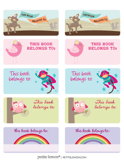 Printed For The Kids Books On Avery Labels Template 8163 Free
