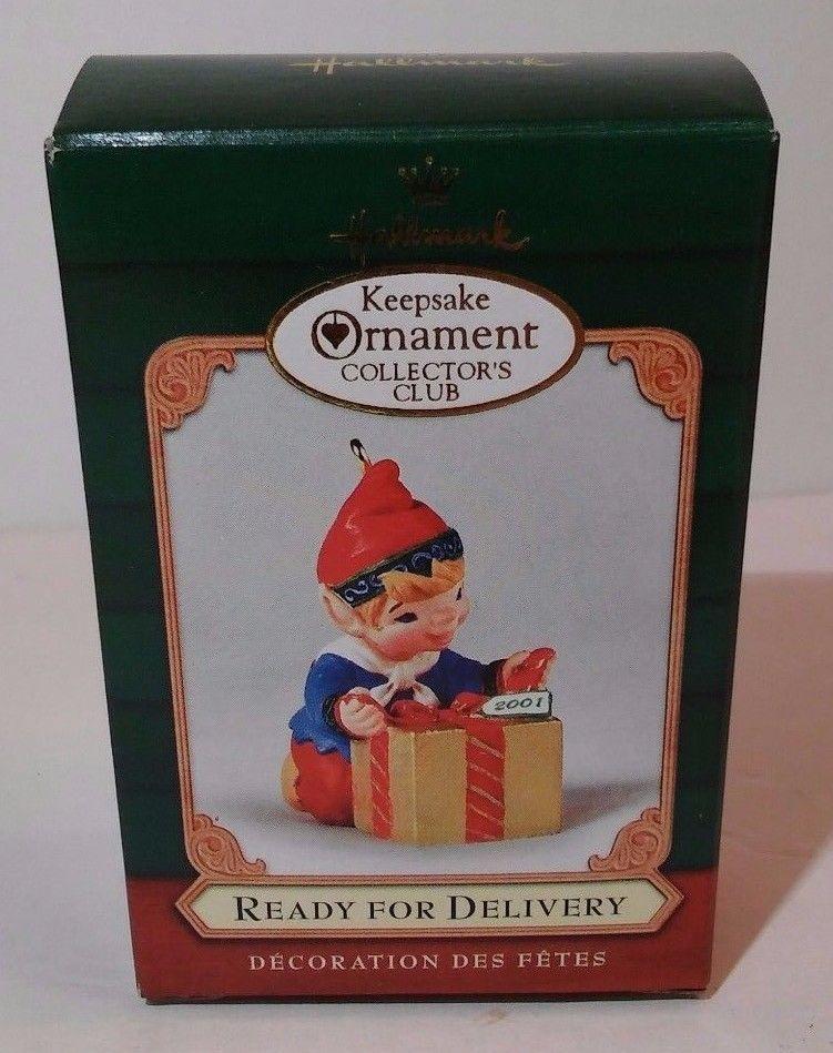Hallmark Keepsake Ornament Ready For Delivery Elf Present