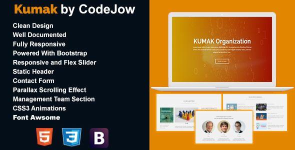 Kumak Responsive HTML5 Template Web page templates, Page template