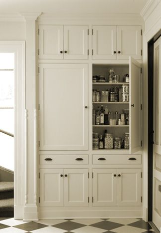 Wall Of Storage Good Vintage Simple Remove Between Cabinets And Pantry