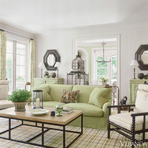 This morning room by designers Richard Hallberg and Barbara Wiseley  originally featured in @verandamag is