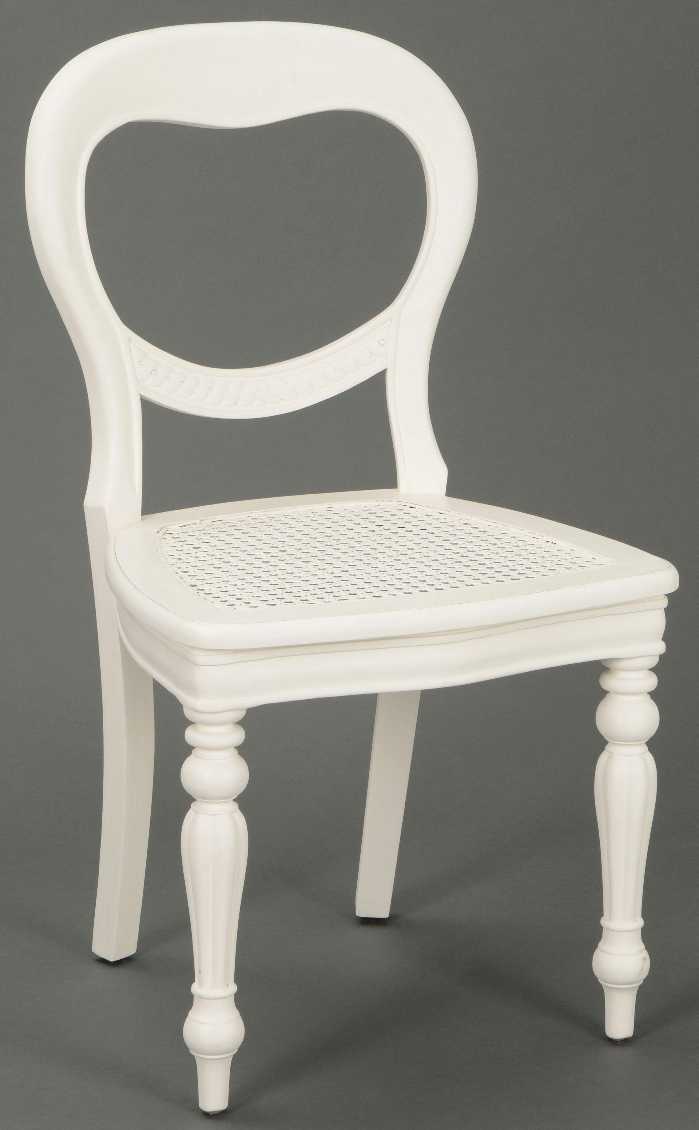 Chaise Cannee Classique Chic Agathe L 52 X P 55 X H 91 Blanc Antique Amadeus Infos Et Dimensions Longueur 52 Cm Chaise Cannee Chaise Table Blanche Et Bois