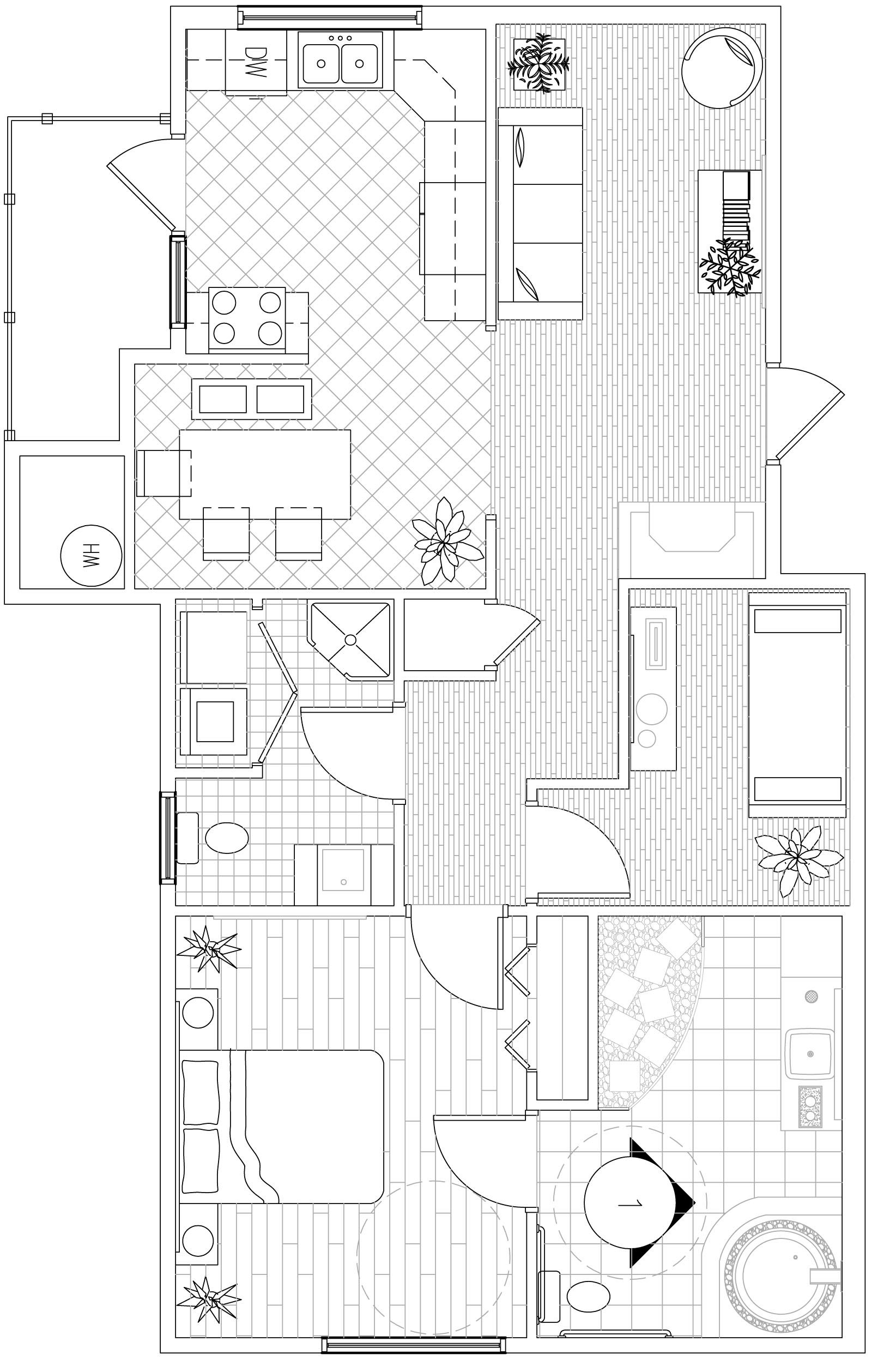 This is the floor plan for a barrier free project we had for Wheelchair accessible home plans
