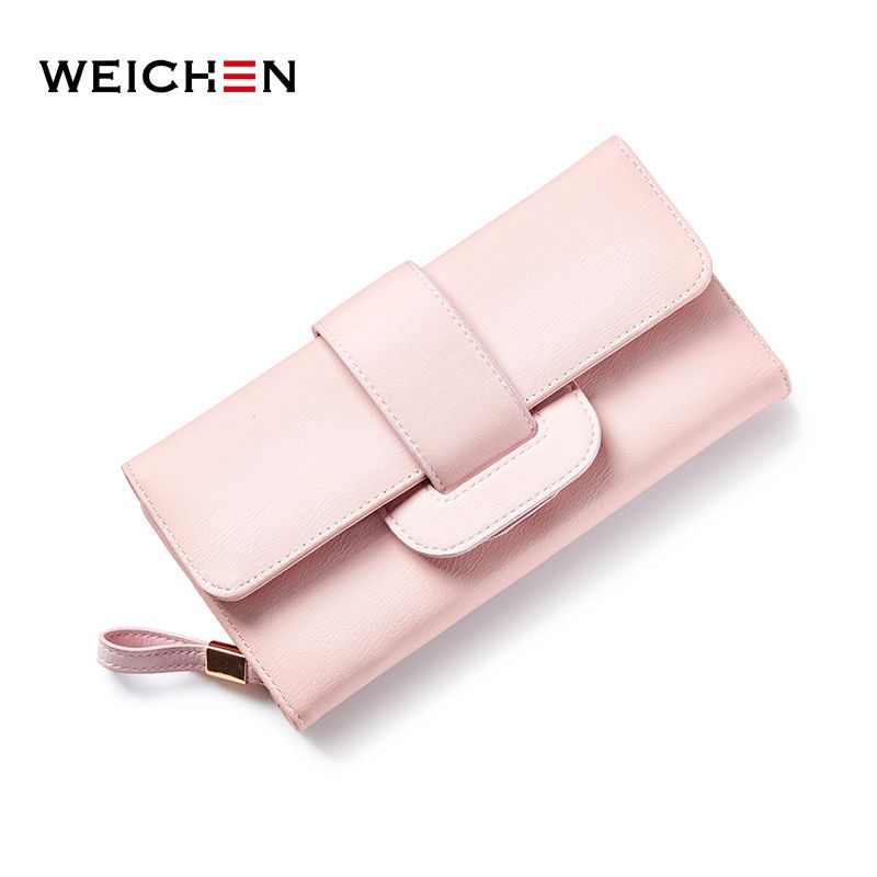 763c0c5205 WEICHEN Long Wallet Women Brand Designer Casual Solid Money Purse Coin  Phone Pocket Ladies Clutch Wallets Female Card Holder Bag