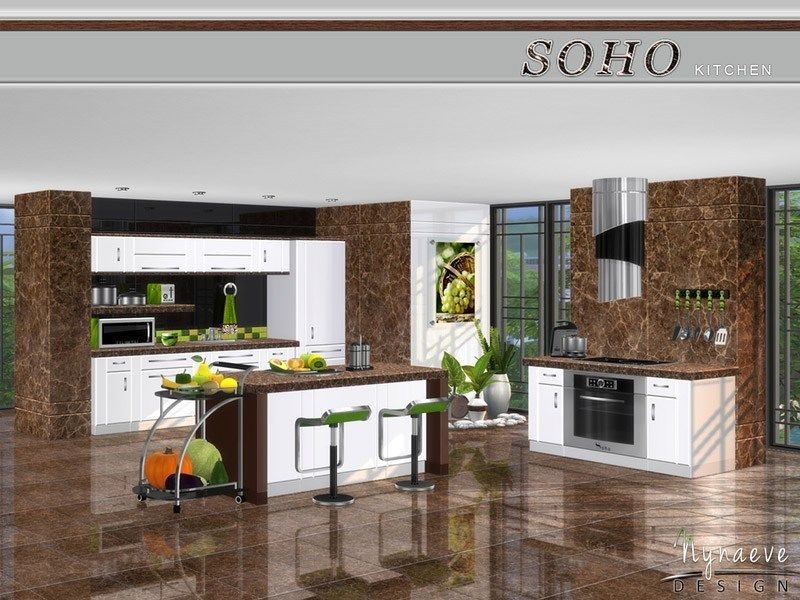 Soho Kitchen | Sims 4 kitchen, Cheap countertops, Diy ...