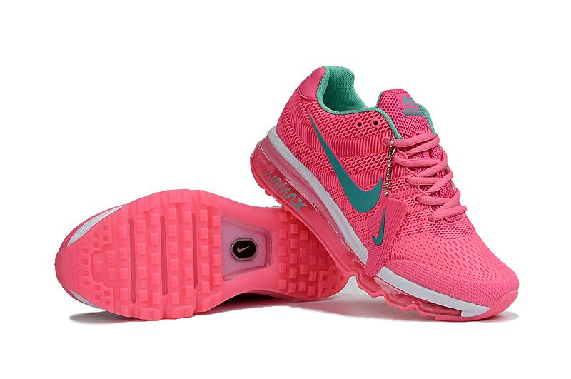 Cheap Nike Air Max 2017 Leather Pink Green White Women Shoes
