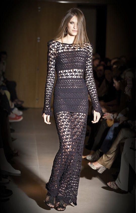 Crochetemoda: Vestidos de Crochet | Vestidos croche | Pinterest ...