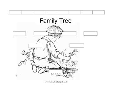 This free, printable family tree has sections for three