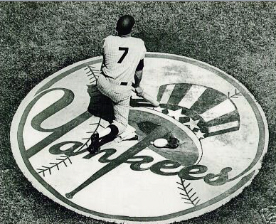 Mickey mantle in yankees circle