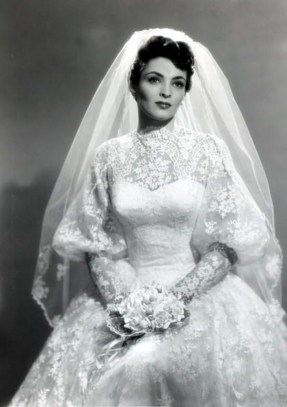 Suzan Ball In Her Wedding Gown Actress Wife Of Richard Long Valley