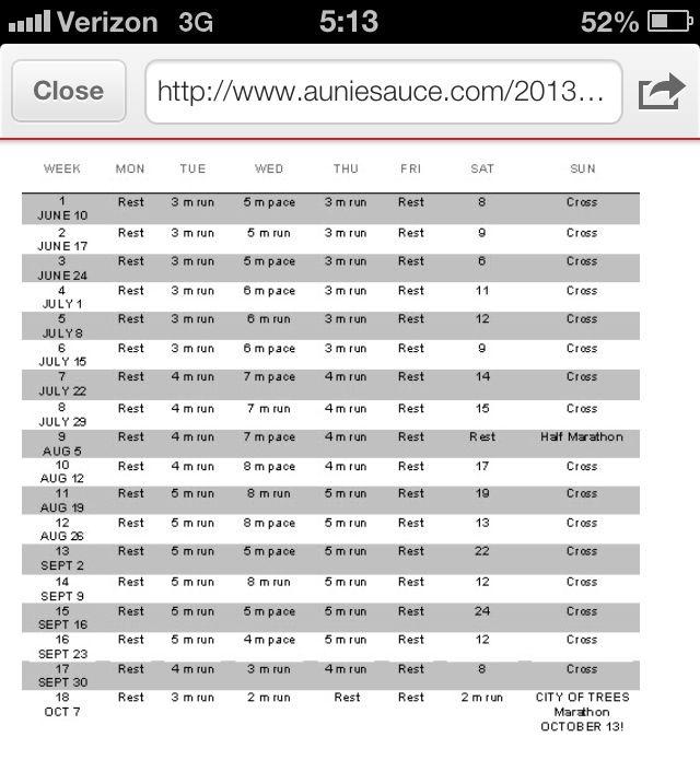 Marathon Training Schedule  No Games Just Sports