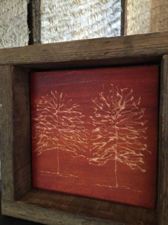 Autumn Wood Decor, Fall Home Decor, Rustic, Minimalist, Mantle Decor, Shelf Art…