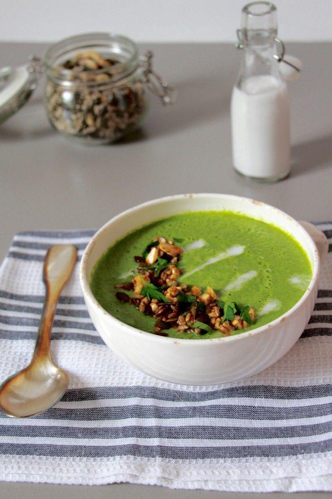 Soupe crue aux épinards by @cgleblog