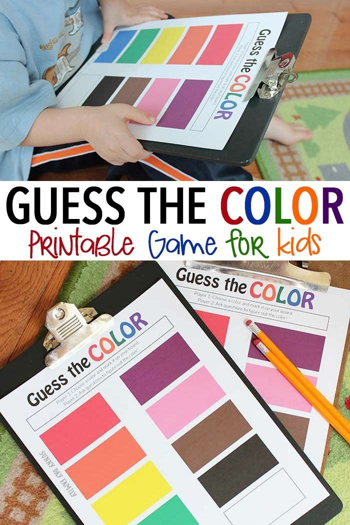 A Super Fun Guessing And Color Game For Kids Inspired By The New Eric Carle Book What S Your Favo Preschool Color Activities Free Games For Kids Games For Kids