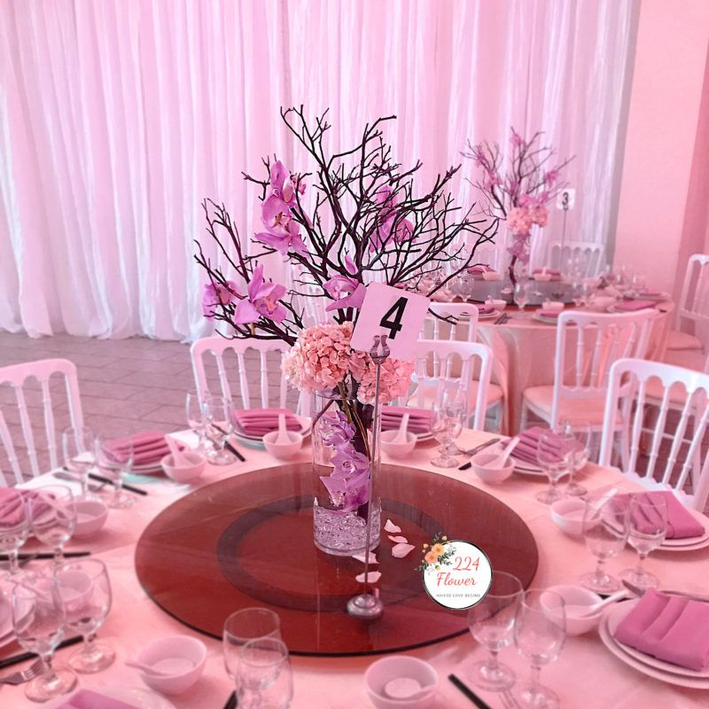 Pin By 224 Flower On Columbus Florist Sweet Sixteen Party Themes Wedding Decorations Wedding Table