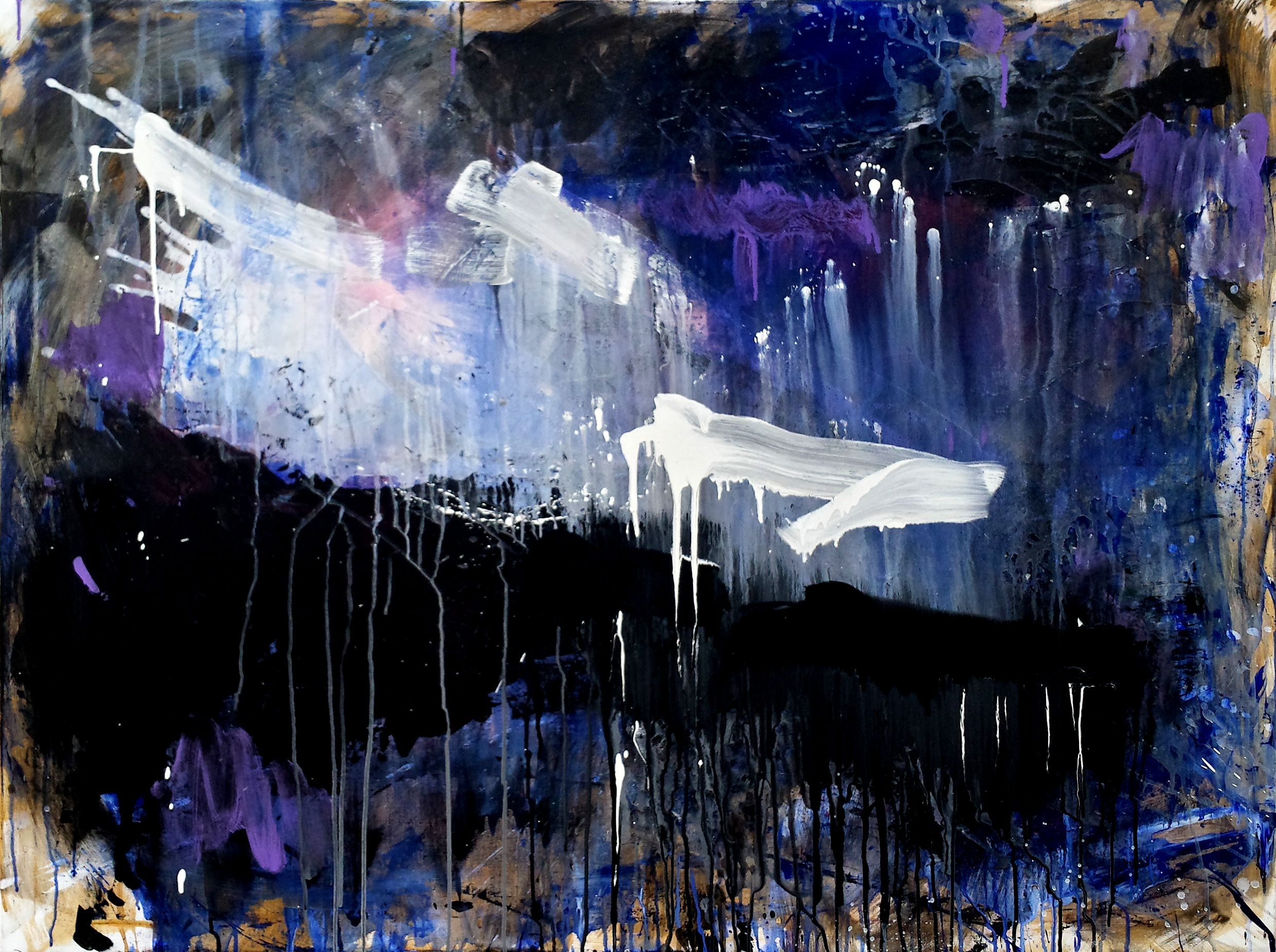 21.02.2014, ©Wolfgang Kahle, 120 x 140 cm, mixed media on canvas