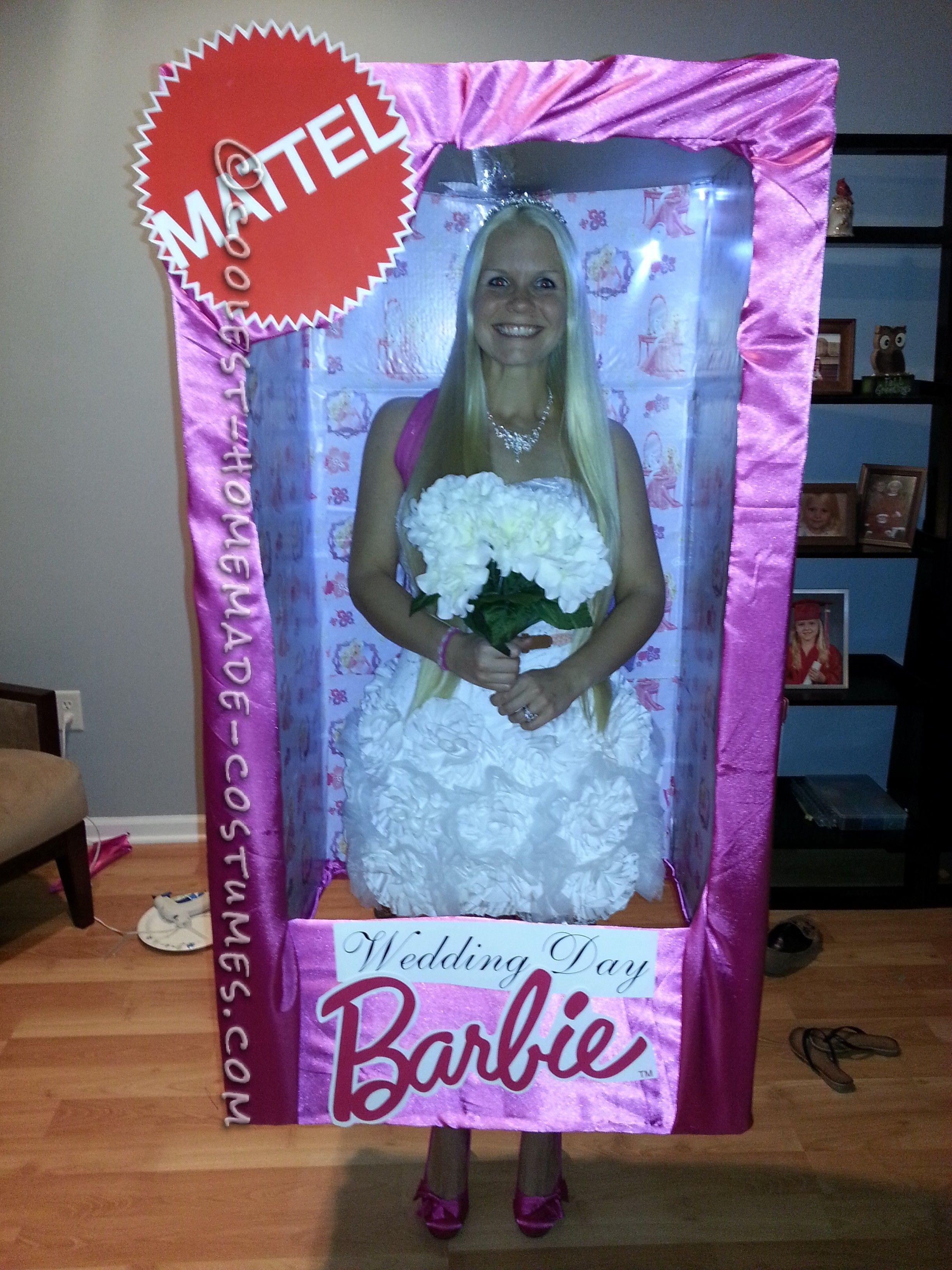 Look-a-Like Wedding Day Barbie-in-a-Box Homemade Halloween Costume ...