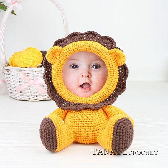 "Patrón de Crochet ""LEO, marco para foto""(Tutorial, archivo PDF) #minioncrochetpatterns"