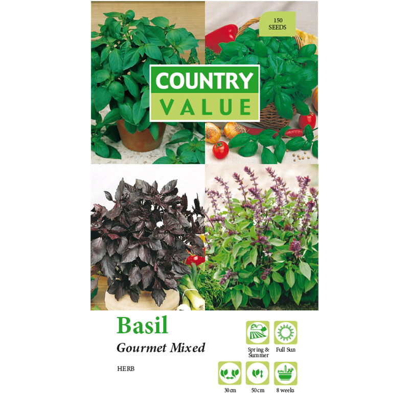 Find Country Value Gourmet Mixed Basil Seeds at Bunnings