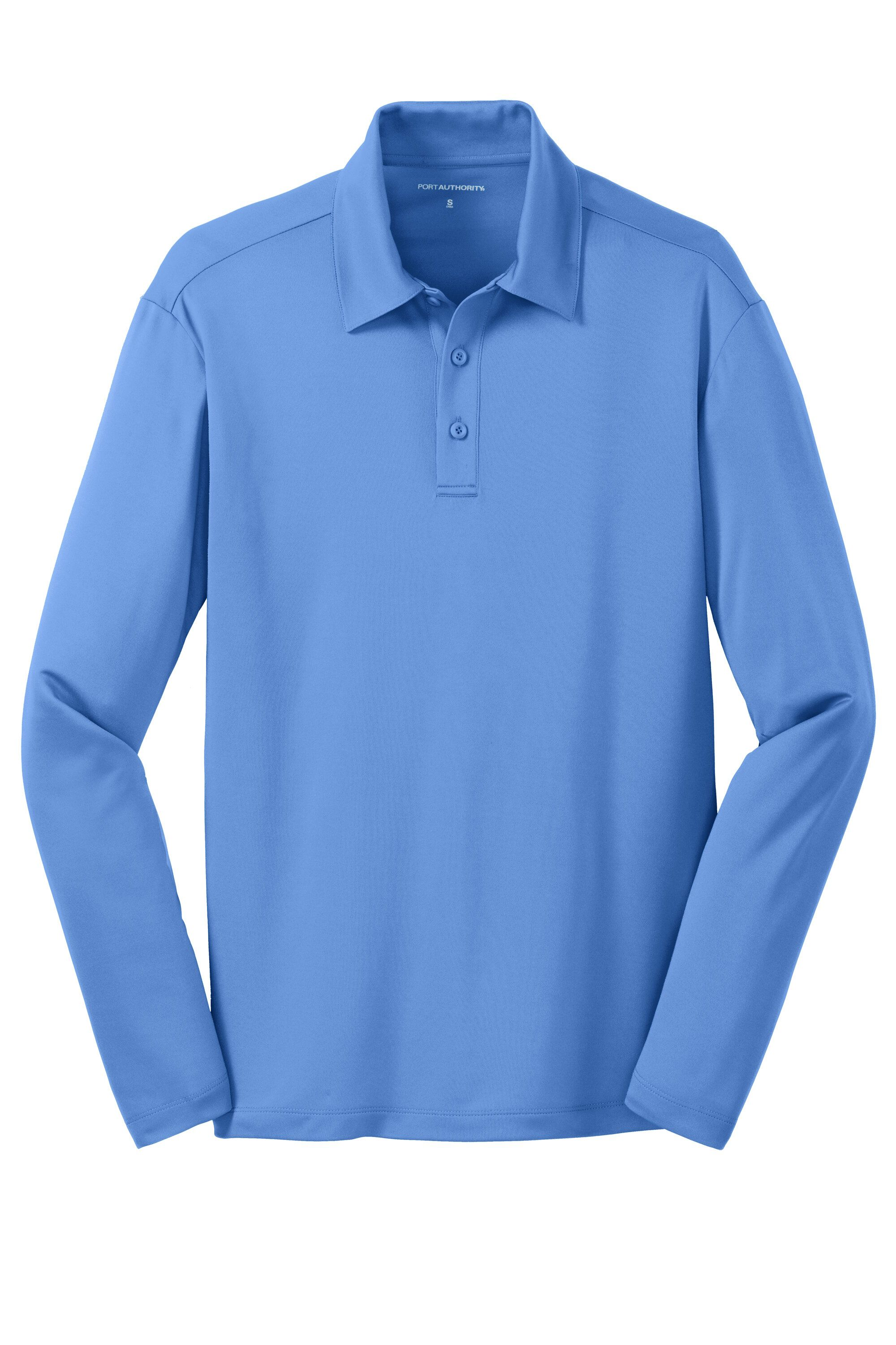 Port Authority Mens Silk Touch Performance Polyester Long Sleeve