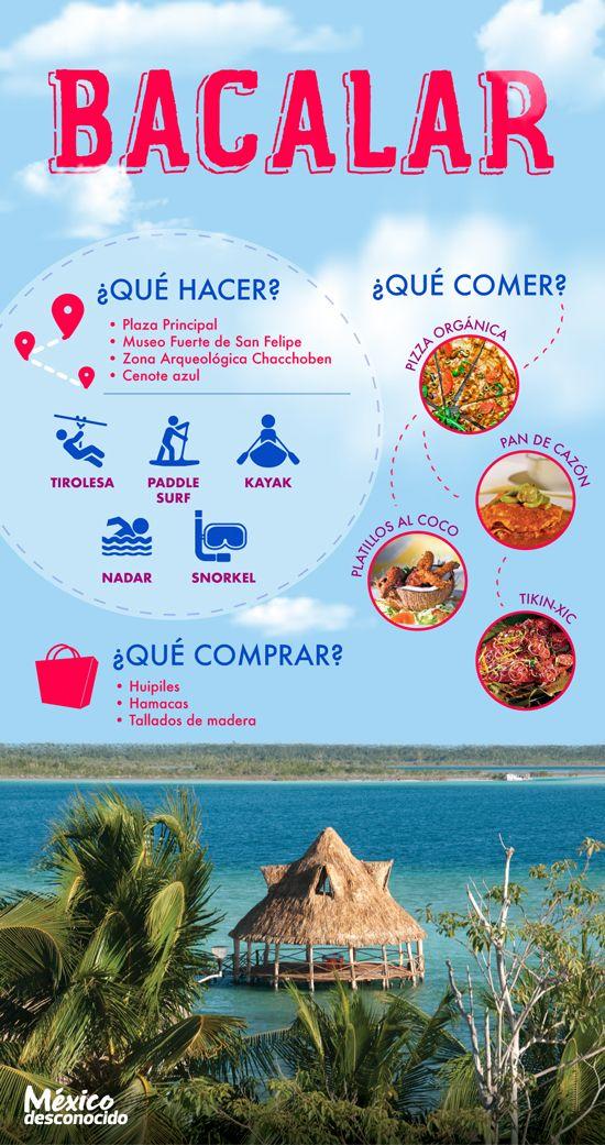 Bacalar Guía Básica De Atractivos Turísticos México Desconocido Turismo En Mexico Bacalar Viajes En Mexico