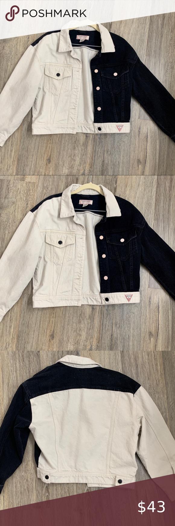 Vintage Guess Black Jeans Bundle Vintage Denim Jacket Denim Fashion Denim Jacket [ 1740 x 580 Pixel ]