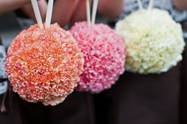 Flowers, Pink, White, Orange, Brown, Flower, Ivory, Girl, Peach, Kissing, Balls, Lisa foster floral design