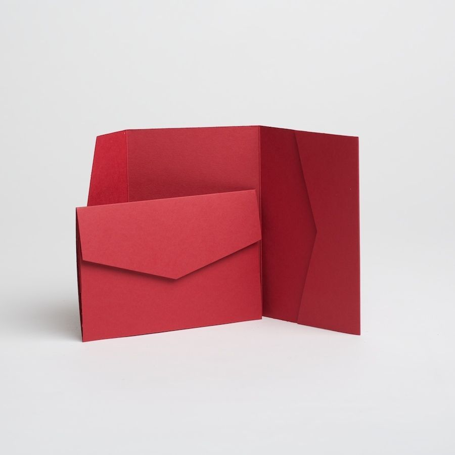 Other Paper Crafts 183243: Red Pocketfold Invitations With Envelopes ...