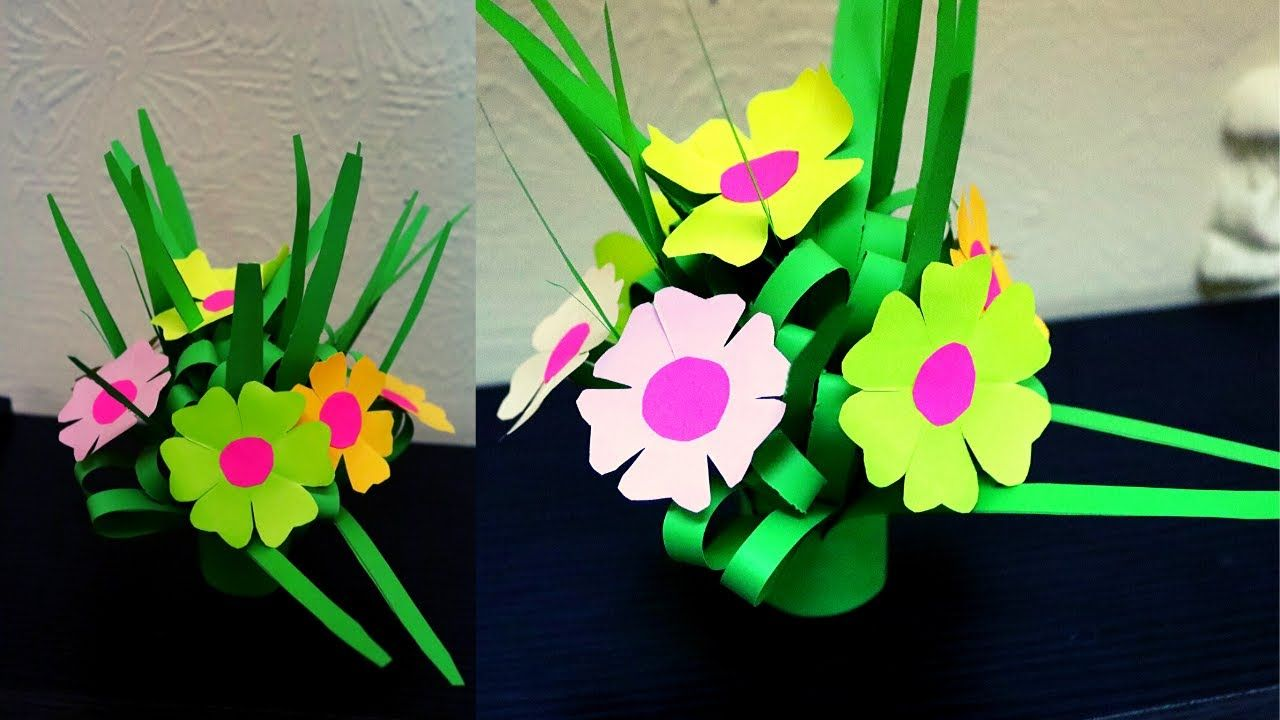 DIY How To: Origami Paper Flower Bouquet. Could do in a variety of ... | 720x1280