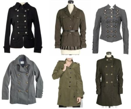 Five Coat Trends to Try Out This Winter | Military style and Military