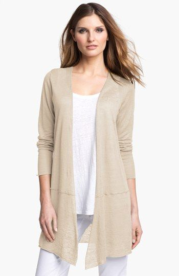 Eileen Fisher Long Linen Cardigan | Nordstrom Love this oatmeal ...