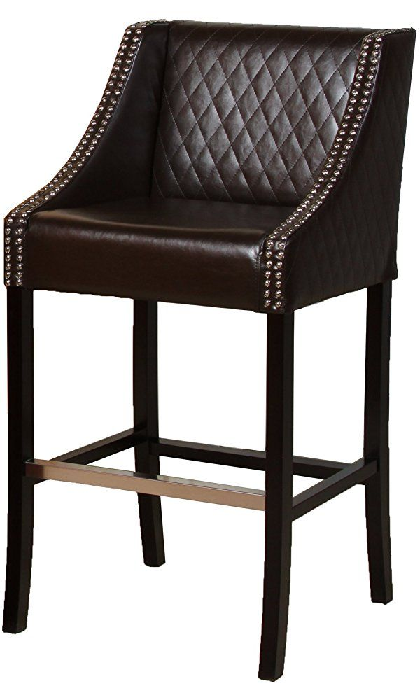Best Selling Milano Leather Bar Stool, Brown Best Price