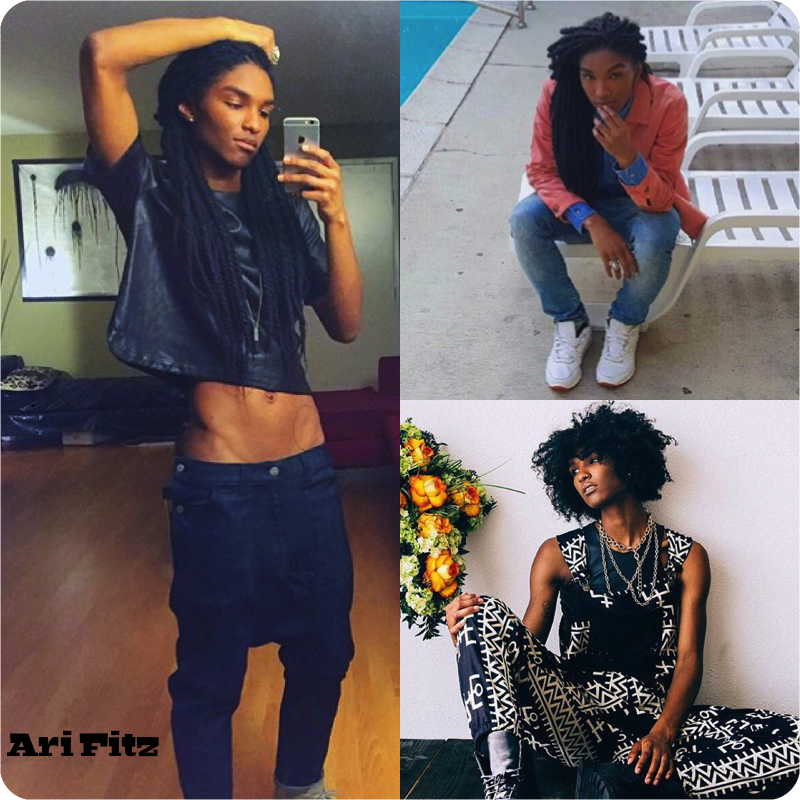 I did a collage of pictures from Ari Fitz's instagram.