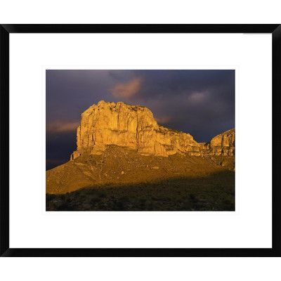 "Global Gallery El Capitan, Guadalupe Mountains National Park, Texas by Tim Fitzharris Framed Photographic Print Size: 18"" H x 22"" W x 1.5"" D"