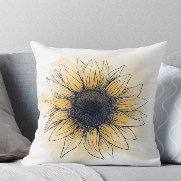 'Sunflower' Throw Pillow by devbailey